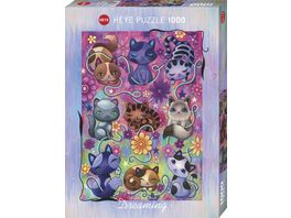 Heye Standardpuzzle 1000 Teile Kitty Cats Dreaming 299552