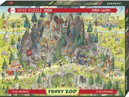 Heye Standardpuzzle 1000 Teile Transylvanian Habitat Funky Zoo 299637