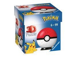 Ravensburger 3D Puzzle 11256 Puzzle Ball Pokemon Pokeballs Pokeball Classic 11256 54 Teile fuer Pokemon Fans ab 6 Jahren