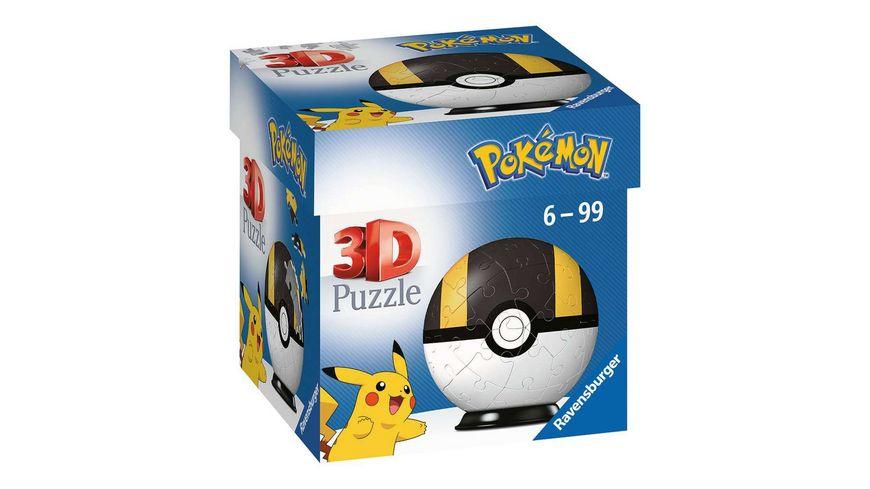 Ravensburger 3D Puzzle 11266 - Puzzle-Ball Pokémon Pokéballs - Hyperball - [EN] Ultra Ball - 54 Teile - für Pokémon Fans ab 6 Jahren