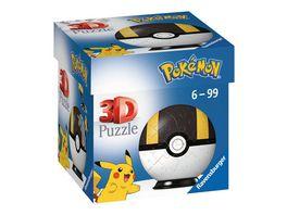 Ravensburger 3D Puzzle 11266 Puzzle Ball Pokemon Pokeballs Hyperball EN Ultra Ball 54 Teile fuer Pokemon Fans ab 6 Jahren