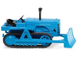 WIKING 084436 1 87 Hanomag K55 Raupenschlepper mit Raeumschild hellblau
