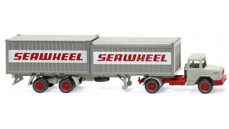 "WIKING 052402 1:87 Containersattelzug (Magirus Deutz) ""Seawheel"""