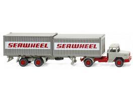 WIKING 052402 1 87 Containersattelzug Magirus Deutz Seawheel