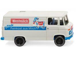 WIKING 027058 1 87 MB L 406 Kastenwagen Westmilch