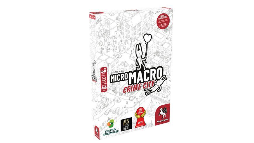 Pegasus - MicroMacro: Crime City (Edition Spielwiese) 59060G Spiel des Jahres 2021