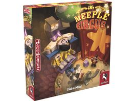 Pegasus Meeple Circus deutsche Ausgabe 57022G Familienspiel
