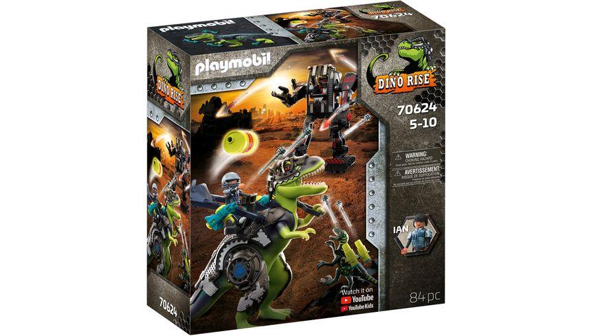 PLAYMOBIL 70624 - DINO RISE - T-Rex: Gefecht der Giganten