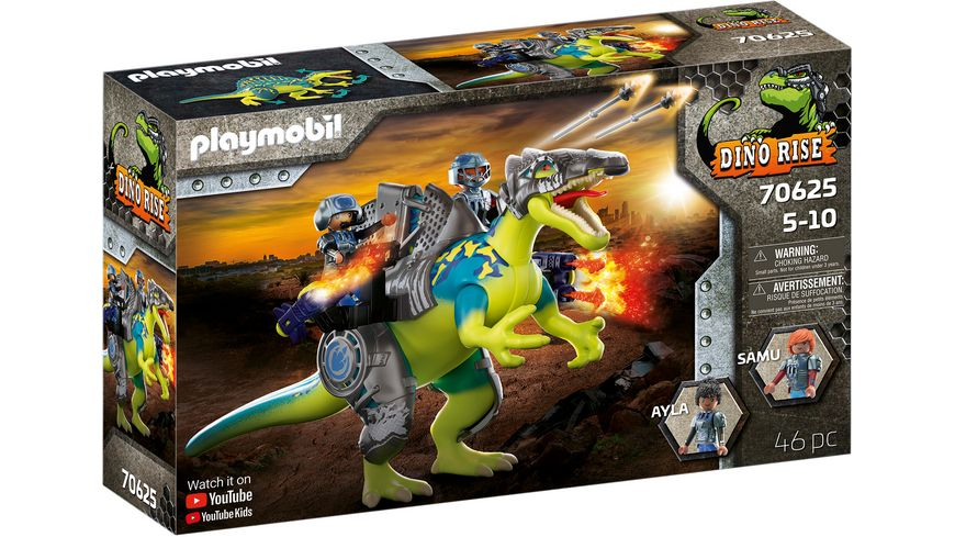 PLAYMOBIL 70625 - DINO RISE - Spinosaurus: Doppelte Verteidigungs-Power