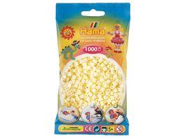 Hama Buegelperlen midi5 Beutel mit Perlen Creme 1 000 Stueck