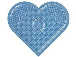 Hama Buegelperlen midi5 Stiftplatte grosses Herz transparent