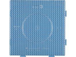 Hama Buegelperlen midi5 Stiftplatte transparent gr Quadrat