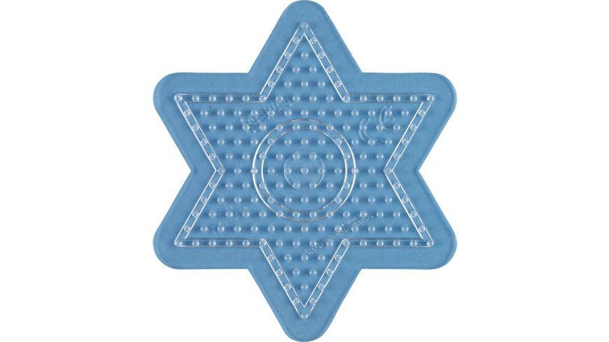 Hama Bügelperlen midi5+ Stiftplatte kleiner Stern, transparent