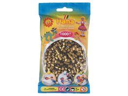 Hama Buegelperlen midi5 Beutel mit Perlen Bronze 1 000 Stueck