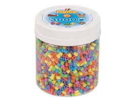 Hama Buegelperlen midi5 Dose mit ca 3000 Perlen Pastell Mix