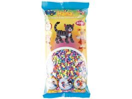 Hama Buegelperlen midi5 Perlenbeutel 6000 Stck Pastell Mix