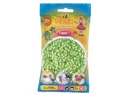 Hama Buegelperlen midi5 Beutel mit Perlen Pastell gruen 1 000Stueck