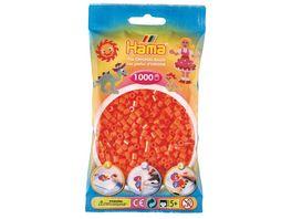 Hama Buegelperlen midi5 Beutel mit Perlen Orange 1 000Stueck