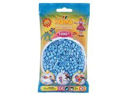 Hama Buegelperlen midi5 Beutel mit Perlen Pastell Blau 1 000Stueck