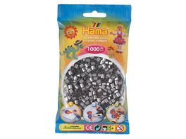 Hama Buegelperlen midi5 Beutel mit Perlen Silber 1 000 Stueck