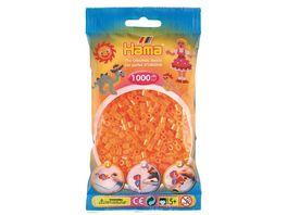 Hama Buegelperlen midi5 Beutel mit Perlen Neon Orange 1 000Stueck