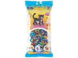 Hama Buegelperlen midi5 Perlenbeutel 6000 Stck Glitter Mix