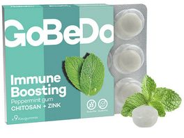 GoBeDo Immune Boosting Peppermint Gum Chitosan Zink