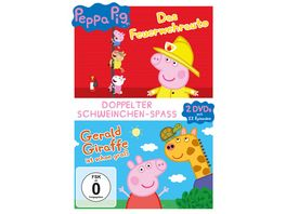 Peppa Pig Das Feuerwehrauto Peppa Pig Gerald Giraffe ist schon gross und andere Geschichten 2 DVDs