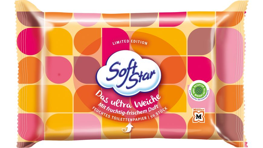 SoftStar Feuchtes Toilettenpapier Ultra Weich Gelb