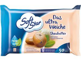 SoftStar Feuchtes Toilettenpapier Ultra Weich Sheabutter
