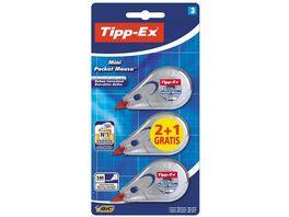 Tipp Ex Pocket Mouse Korrekturroller 5mm x 6m 3er Pack