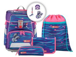 Step by Step SPACE Schulranzen Set Shiny Dolphins 5 teilig