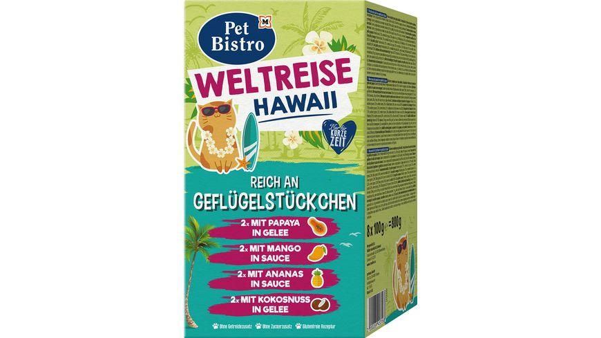 Pet Bistro Katzennassfutter Weltreise Hawaii reich an Geflügelstückchen