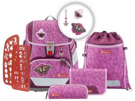 Step by Step 2IN1 PLUS Schulranzen Set Natural Butterfly 6 teilig