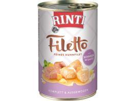 RINTI Hundenassfutter Filetto Huhn Schinken in Sauce