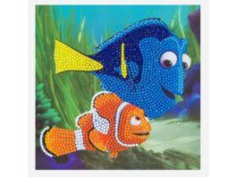 Craft Buddy Crystal Art Card Kit Disney Dori and Marlin 18x18cm