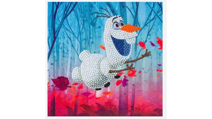 Craft Buddy - Crystal Art Card Kit Disney Frozen Olaf, 18x18cm