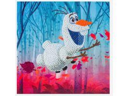 Craft Buddy Crystal Art Card Kit Disney Frozen Olaf 18x18cm