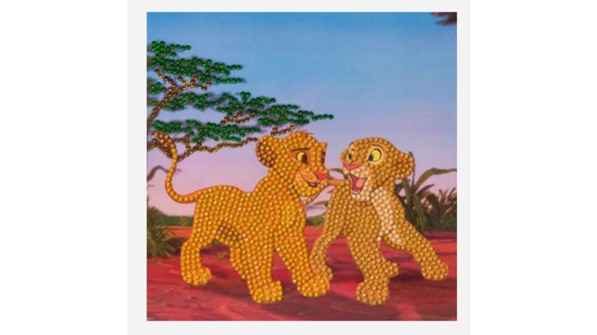 Craft Buddy - Crystal Art Card Kit Simba and Nala, 18x18cm