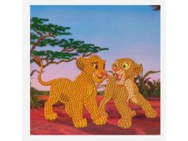 Craft Buddy Crystal Art Card Kit Simba and Nala 18x18cm