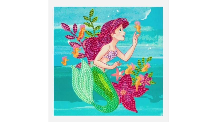Craft Buddy - Crystal Art Card Kit Arielle, 18x18cm