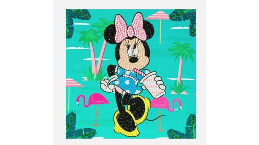 Craft Buddy - Crystal Art Card Kit Minnie on Holiday, 18x18cm