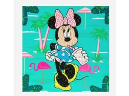 Craft Buddy Crystal Art Card Kit Minnie on Holiday 18x18cm