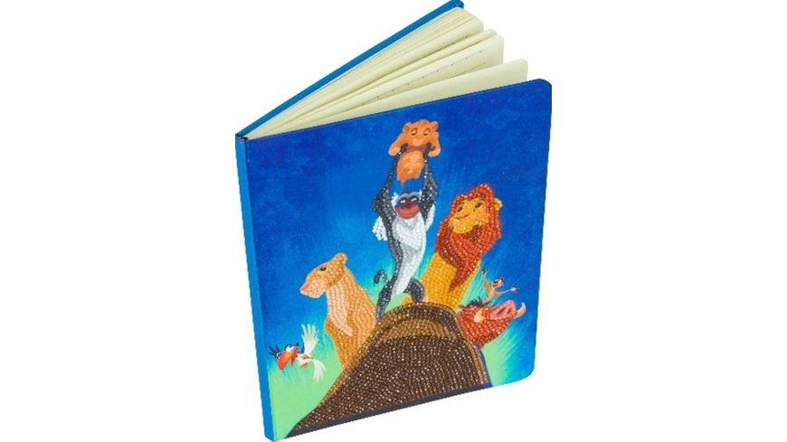 Craft Buddy - König der Löwen Notizbuch Crystal Art