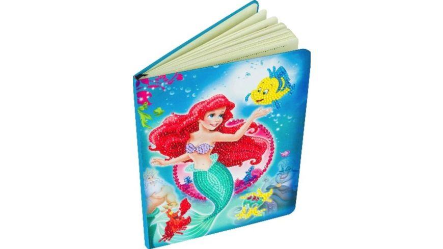 Craft Buddy - Die Kleine Meerjungfrau Notizbuch Crystal Art