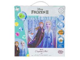 Craft Buddy Disney Frozen Elsa Anna Olaf 30x30cm Crystal Art Leinwand auf Holzrahmen