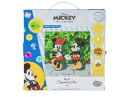 Craft Buddy Minnie and Mickey 30x30cm Crystal Art Leinwand auf Holzrahmen