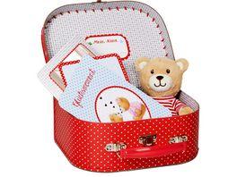 Die Spiegelburg Geschenkset Teddy im Koefferchen BabyGlueck
