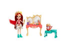 Royal Enchantimals Frisiertisch Spielset mit Fabrina Fox und Tierfigur