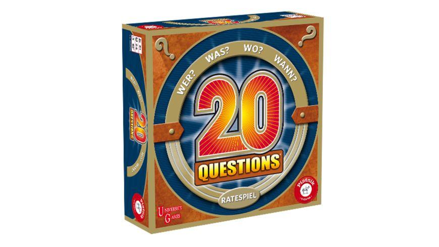 Piatnik 20 Questions Ratespiel - 20 Hinweise zur Findung des gesuchten Begriffes 6613